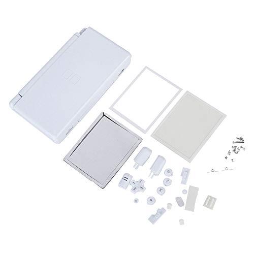T osuny Piezas de reparación Completas para Nintendo DS Lite, Carcasa de Carcasa de Consola de Juegos portátil, Kit de reemplazo de máquina de Juego para Nuevo NDSL con Apariencia compacta(Blanco)