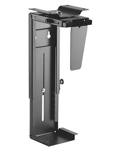 VALUE PC-Halter   schwarz   Stabiler Computer-Halter zur Untertischmontage - verstellbar in Höhe und Breite zur sicheren Fixierung des PCs
