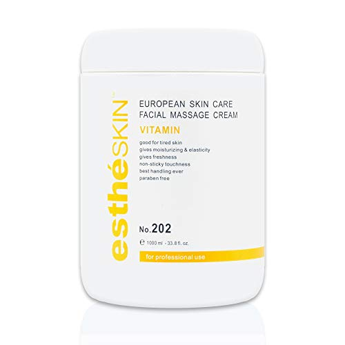 estheSKIN Vitamin Facial Massage Cream for European Skin Care, 33.8 fl.oz. / 1000 ml