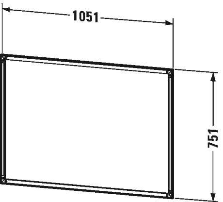 Duravit L-Cube Einbaurahmen für Spiegelschrank, 1050x10 mm, mit integrierter Touch LED - LC968700000