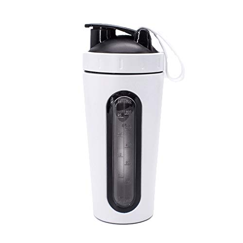 XHCWater Water flessen Outdoor Sport Fitness Shake Cup, Sport Water Fles Dieet Fitness Shaker Vaatwasser Safe Workout Flask, Leak Proof BPA Gratis Anti Slip Brede Mond Deksels Zweet Gratis Poeder Mixer