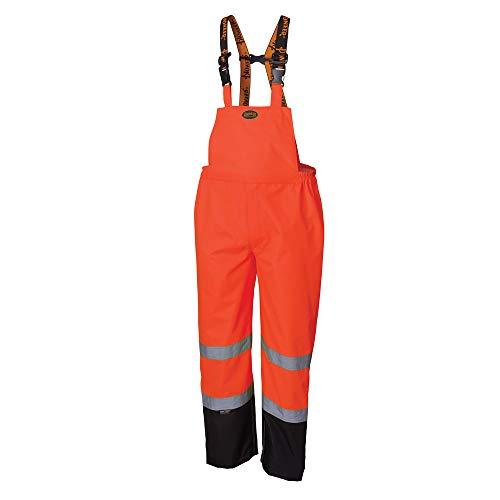 Pioneer Ripstop High Visibility Bib Pant - Safety Rain Gear – Hi Vis, Waterproof, Reflective, Work Overalls for Men – Orange, Yellow/Green