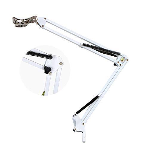 HYCZW Microfoon Stand, Microfoon Stand met Mic Clip Gratis Verstelbare Clips Bureau Microfoon Boom Arm Ultra Licht voor Gemakkelijk Transport Inklapbare Boom Stand