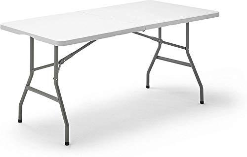 Woodtree KitGarden Folding 180 - Mesa Plegable, Color Blanco, 180x74x74 cm,Tama?o:152x70x74 cm (Size : 152x70x74 cm)