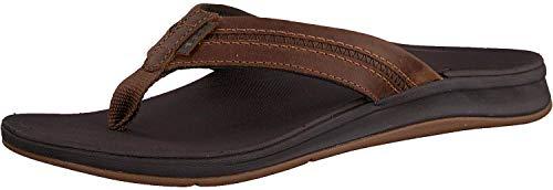 Reef Men's LTHR Ortho Coast Sandal, Brown, 11