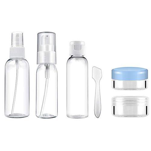 DS Botellas Viaje 6 Piezas Set Viaje Juego Botes Rellenar