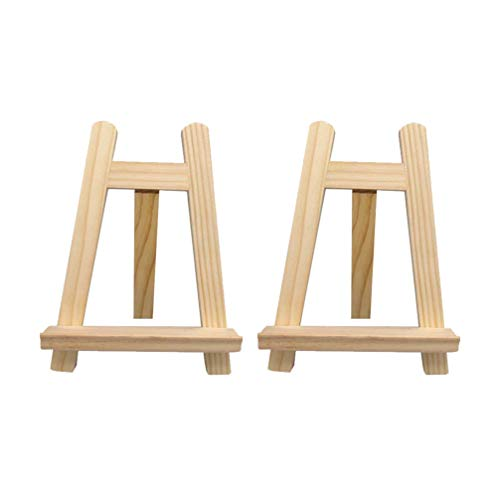 NUOBESTY - 2 caballetes de madera con soporte para trípode