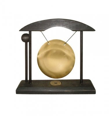 Ping Gong pequeño negro y dorado