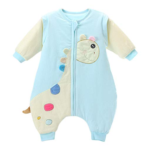 CAIYIXIONG Unisex Baby Sleeping Bag 18-36 Months, Legs, Detachable Sleeves, Anti-Kick, Spring, Autumn, Thin, Quilted, Newborn, Cotton Baby Swaddle Baby Blanket Children's Sleeping Bag