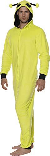 Disney Men's Goofy Cos Play One Piece Pajama Union Suit, Space Alien, Size Small/Medium