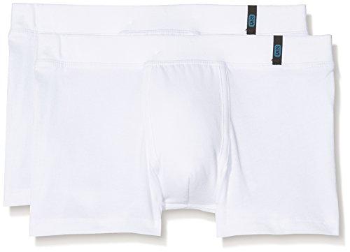 Schiesser Jungen Boxershorts, Weiß (Weiß 100), L (2er Pack)