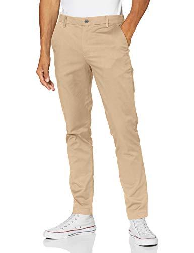 Calvin Klein Ckj026 Slim Stretch Chino Pant Pantalones, Travertine, 38W / 32L para Hombre