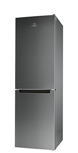 Indesit LI8 FF2 X Kühl-Gefrier-Kombination / 189 cm Höhe / 255 kWh / 215 Liter Kühlteil / 90 Liter Gefrierteil/NoFrost, nie mehr abtauen/nur 0,699 kWh / 24 Stunden/Edelstahl-Front