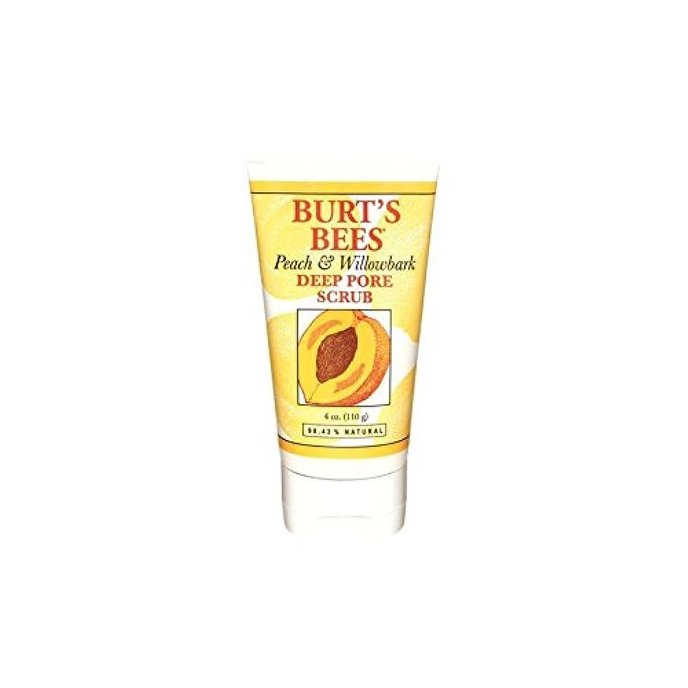 困惑不利益コックバーツビーの桃&深いポアスクラブ(4オンス/ 110グラム) x2 - Burt's Bees Peach & Willowbark Deep Pore Scrub (4 Oz / 110G) (Pack of 2) [並行輸入品]