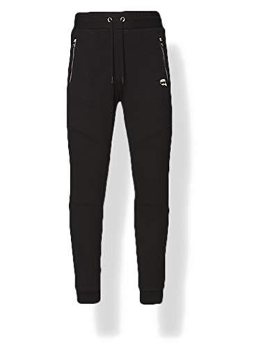 KARL LAGERFELD Mens Lounge Ikonik Biker Sweatpants, Black, L