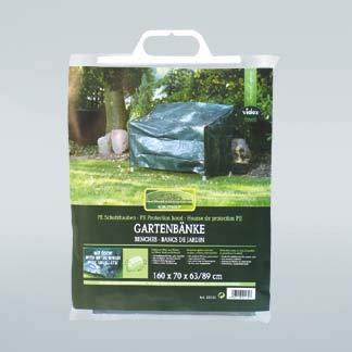 bambus-discount.com Schutzhülle für Gartenbank, geeignet für 3-Sitzer, PE Material, L:160cm B:70cm und Höhe 63x89cm, grün - Abdeckplanen Schutzhauben Wetterschutz Planen Hauben
