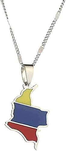 WYDSFWL Collar Hombre Collar Mujer Colgante Collar Hermoso Collar Popular Que se Adapta a Todos los Collares con Regalos de Remolque de Esmalte Collar Niños Niña Regalo