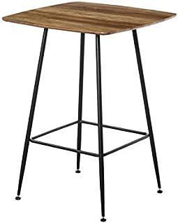 Zons BLACKUS Table Mange Debout CARRÉ en Bois, L.75xP. 75xH.102 CM
