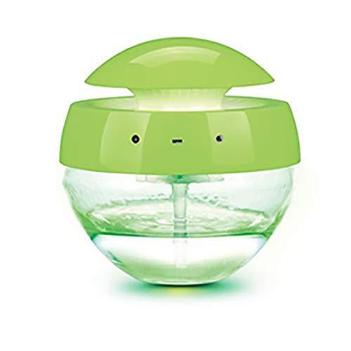 Allamp Norte de Europa Función Multi purificador de aire, sonido lámpara de escritorio, lámpara de la noche de siete colores, Purificador conveniente, blanco + verde