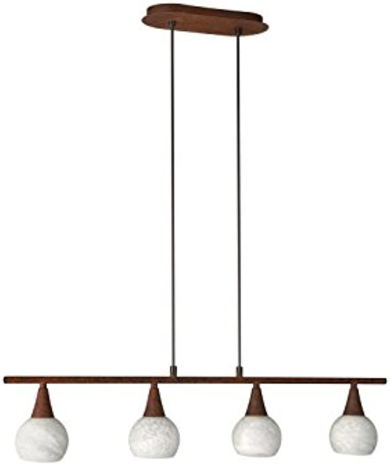 Massive Suspension light Pendelleuchte, Metall, E14, braun, 80.7 x 0 x 150 cm