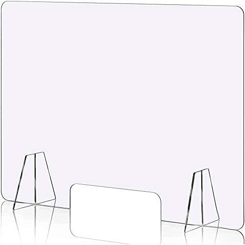 飛沫防止 パーテーション アクリル板 H600mm × W600mm スタンド 2個付き 透明 対面式スクリーン デスク用 仕切り板 間仕切り 飲食店 オフィス 受付 角丸加工 組立式