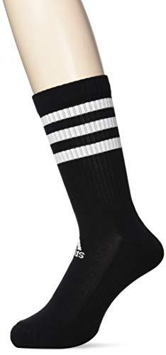 adidas Socken 3 Paar 3-Streifen Cushion Crew, Black/Black/Black, M, DZ9347