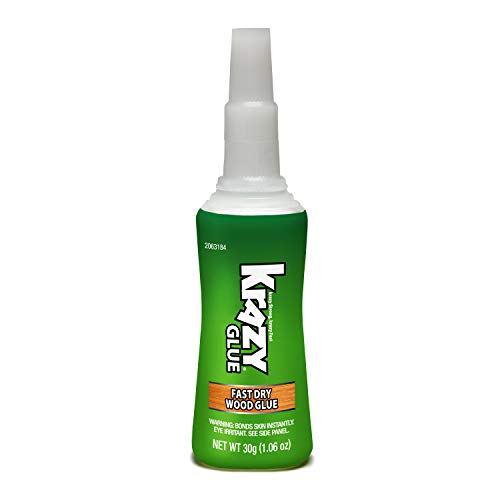 Krazy Glue 2063184 Fast Dry Wood Glue, Clear