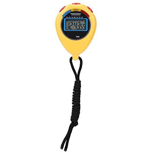 Tbest Cronómetro Deportivo Profesional Reloj de Mano Reloj Digital Cronómetro Deportes Atletismo Cronómetro Electrónico para Carreras Correr Natación Árbitros(Amarillo)