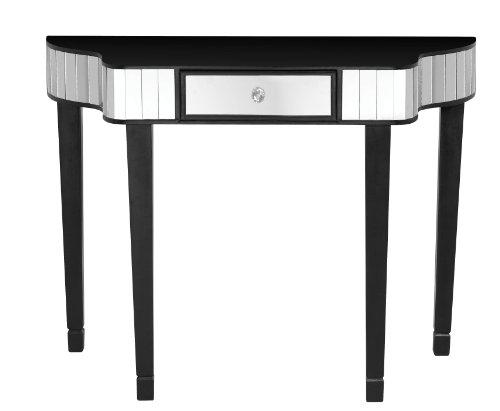Premier Housewares 2402518 Tavolo in Legno e Specchio, Clavier Consolle Nero, 91.5X 35.5x70 cm