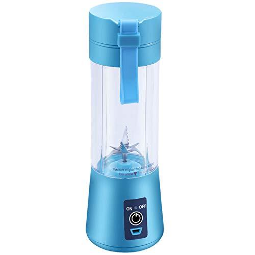 Mdsfe 380ml USB wiederaufladbarer Mixer Mixer Tragbarer Mini-Entsafter Saftmaschine Smoothie Maker Haushalt Kleiner Saft-Extraktor New Drop - Blau