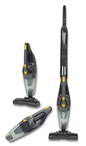 Eureka Blaze Stick Vacuum Cleaner, Powerful Suction 3-in-1 Small Handheld Vac with Filter for Hard Floor Lightweight Upright Home Pet Hair, Dark Black