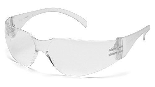 Pyramex Intruder Safety Eyewear, Clear Frame, Clear-Hardcoated Lens