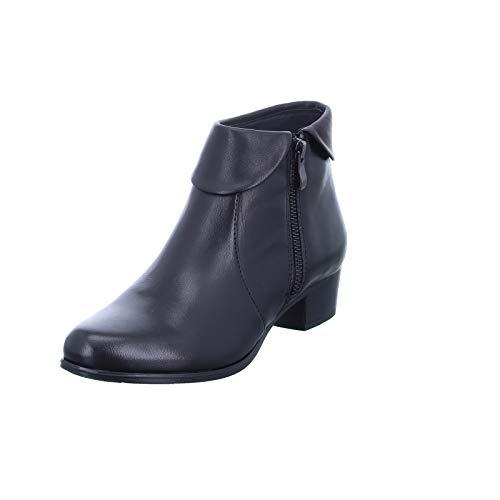 BOXX Damen Stiefelette WH269H01 Warmfutter und eleganter Lederkragen Schwarz (Black) Größe 38 EU