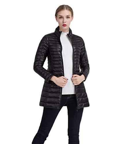 Dames donsjas licht winter kraag shirt Parka lange mouwen Chic effen met rits mantel comfortabel hoogwaardig outdoorwear