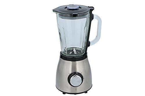 DUNLOP Standmixer Edelstahl 500 Watt 1,5L Glasbehälter, Smoothie Maker, 2 Geschwindigkeiten, 0,7PS, doppelte Sicherheitsverriegelung, Easy Clean