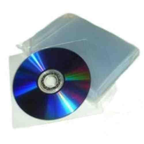 eXpress Net Hochwertige CD- / DVD-Hüllen, 100Stück, aus Kunststoff, durchsichtig