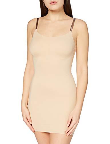 Calvin Klein Full Slip Sottoveste Modellante, Avorio (Bare 20N), 40 (Taglia Produttore: X-Small) Donna