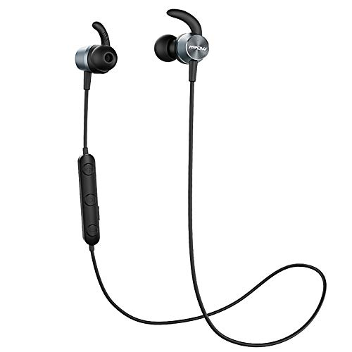 【Versión Actualizado】 Mpow S15 Dual EQ Auriculares Bluetooth Magnéticos,IPX7 Auricular In-Ear Running Deporte HD Sonido con Micrófono,Cascos Deportivos Correr para iPhone Android