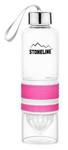 STONELINE® 2en 1Botella con exprimidor, Color Rosa