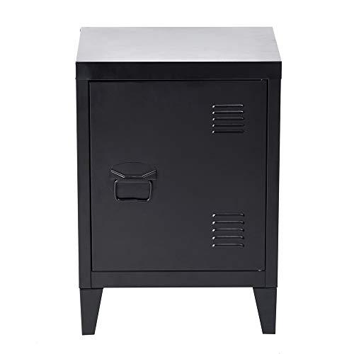 Kleine opbergkast, stalen kast, archiefkast, vrijstaande kast met 4 stabiele metalen poten & krasbestendig gepoedercoat oppervlak, compact en toch ruim, zwart, 30 x 40 x 57 cm.