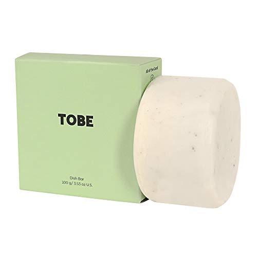 TOBE Natural Dish Soap – Biodegradable Dish Soap – Zero Waste Kitchen – Glycerin Moisturizing Dish Soap – Plastic Free Package - Residue Free