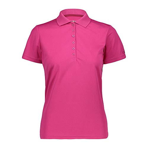 CMP 3t59676 Polo T-Shirt,Femme - Rouge (Geraneo) - 36 EU (Taille Fabricant: XS)