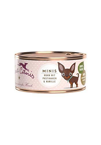 Terra Canis Mini-Hunde Nassfutter I Reichhaltiges Premium Hundefutter in echter Lebensmittelqualität mit Huhn, Pastinake & Kamille I 100g, allergenarm, getreidefrei & glutenfrei