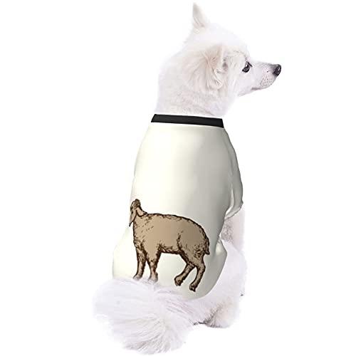 EDJKEJYCO Ropa de perro de oveja, linda pijama de perro, camisa de perro para perros pequeños, medianos y grandes, gatos