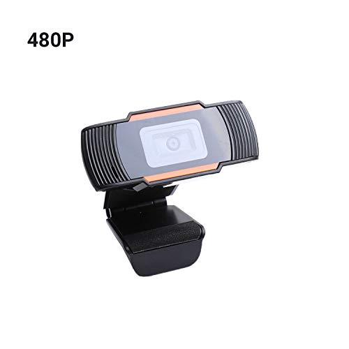 Docooler 480P / 720P / 1080P Hochauflösende USB Webcam, Laufwerksfreie Desktop-Computerkamera mit geräuschunterdrückendem Mikrofon