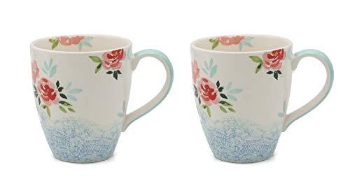 Angel's Pride Floral Lace - Juego de 2 tazas de café
