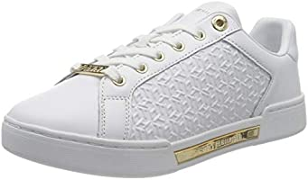 Tommy Hilfiger Monogram Elevated Sneaker, TH Monobram Baskets Mono-gramme surélevées Femme