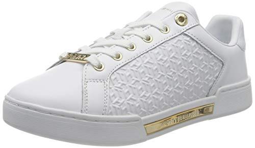 Tommy Hilfiger Damen Th Monogram Elevated Sneaker, weiß, 40 EU