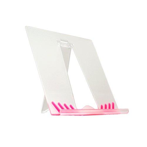 System-S Tisch Ständer Halter Halterung Stand Transparent Pink für Archos Home Tablet 5 9 10.1 28 32 43 70 101 Internet Tablet Arnova 8