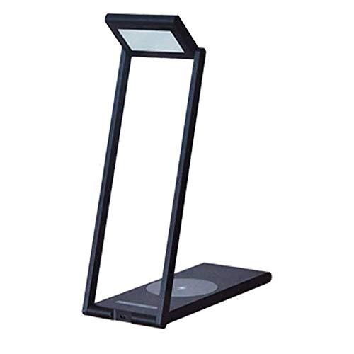 QXinjinxtd Lámparas para Habitaciones LED lámpara de Mesa Regulable Plegable del USB, Wireless lámpara de Escritorio LED de Carga for Qi, Ojo-Cuidado lámparas de Mesa, Columpio Metal Brazo lámpara de